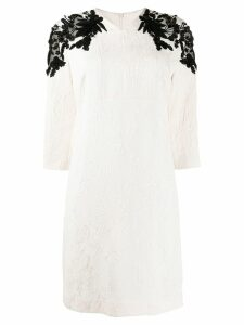 Escada sequin embellished dress - White