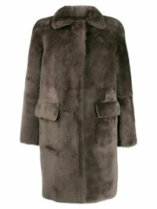Desa 1972 button-up shearling coat - Grey
