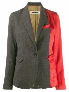 Uma Wang contrast panel blazer - Grey