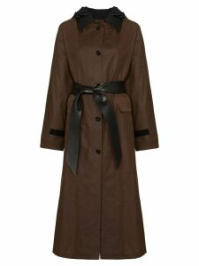 Kassl Editions waxed trench coat - Brown