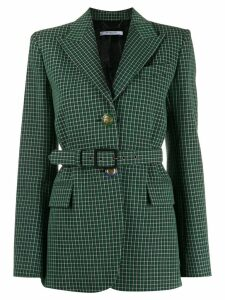 Givenchy grid check blazer - Green