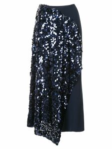 Roland Mouret Kells sequin embroidery skirt - Blue