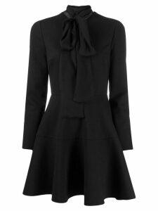 Valentino scalloped short dress - Black