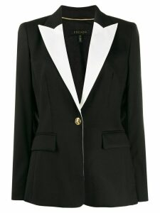 Escada contrast single breasted blazer - Black