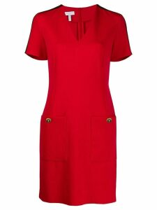 Escada Sport side stripe midi dress - Red