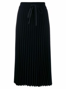 Red Valentino RED Valentino drawstring pleated midi skirt - Black
