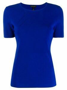 Escada short-sleeved knitted top - Blue