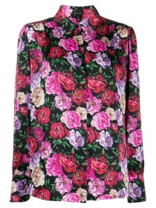 Escada floral print shirt - Black