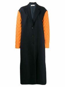 Nina Ricci contrasting sleeve coat - Blue