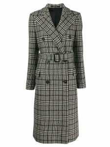 Tagliatore Glen check coat - Black