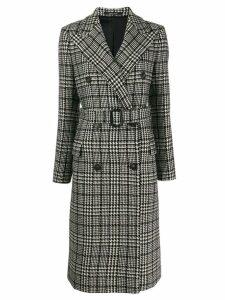 Tagliatore Glen check coat - Black