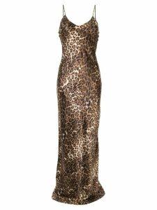 Nili Lotan leopard print slip dress - Brown