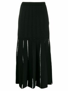 ALEXANDER MCQUEEN cut-out detail skirt - Black