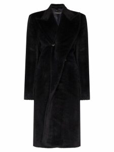 Y/Project faux fur wrap coat - Blue