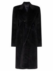 Y/Project faux fur wrap coat - Blue