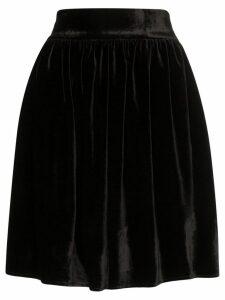 Michael Lo Sordo high-waisted velvet mini skirt - Black