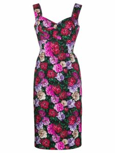 Escada floral print midi dress - Black