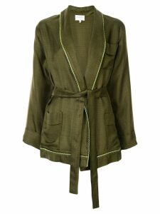 Zeus+Dione belted wrap jacket - Green