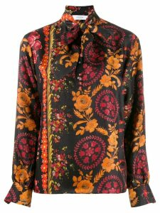 Roseanna floral pussy-bow blouse - Brown