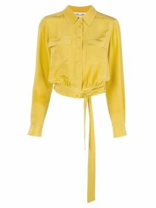 Diane von Furstenberg cropped shirt - Yellow