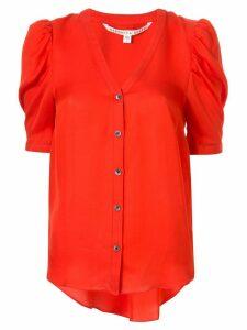 Veronica Beard puffed-shoulder shirt - Red