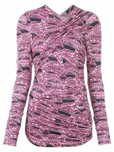 Isabel Marant bodycon short dress - Purple
