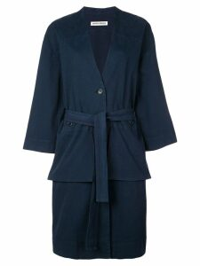 Henrik Vibskov Kerry single-breasted coat - Blue