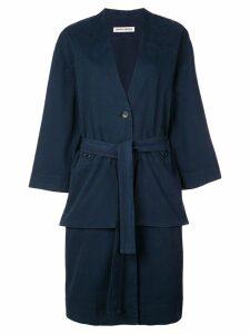 Henrik Vibskov Kerry single-breasted coat - Blue