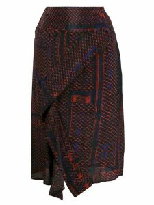 Lala Berlin patterned high-waisted skirt - Red