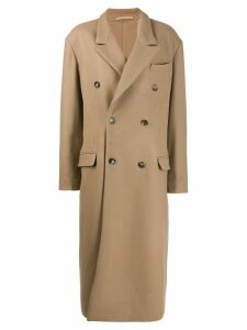 Rokh oversized double-breasted coat - Neutrals