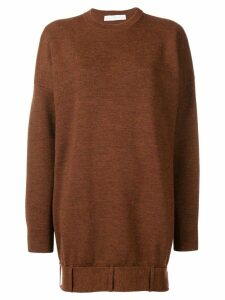 Victoria Beckham oversized long-sleeve sweater - Brown