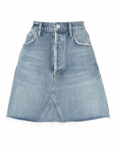 AGOLDE fitted mini skirt - Blue