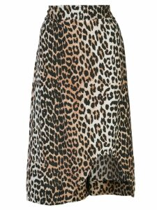 Ganni leopard print skirt - Brown