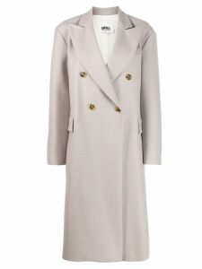 Mm6 Maison Margiela double-breasted midi coat - Neutrals