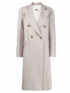 Mm6 Maison Margiela double-breasted midi coat - NEUTRALS