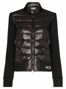 Moncler padded logo detail jacket - Black