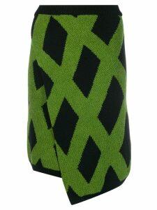 Christian Wijnants Kasha asymmetric knit skirt - Black