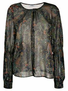 Liu Jo sheer paisley blouse - Blue