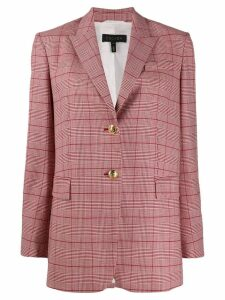 Escada check print blazer - Red