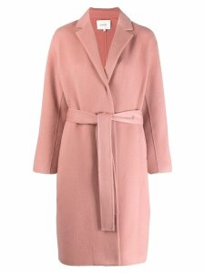 Vince single breasted belted coat - Pink