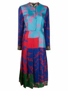Escada pleated design dress - Blue