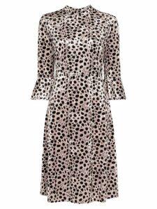 HVN Ashley leopard print midi dress - Black