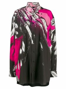 Maison Margiela oversized graphic print shirt - Black
