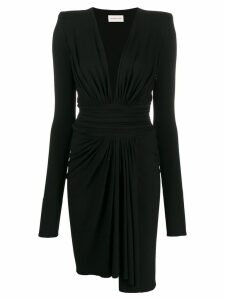 Alexandre Vauthier plunge-neck midi dress - Black