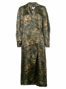 Ganni printed coat dress - Green