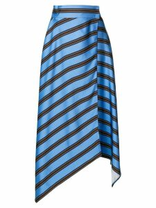 Fendi asymmetrical hemmed striped skirt - Blue