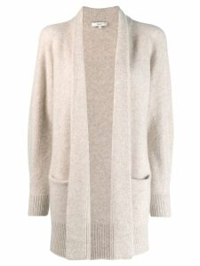 Vince open-front knit cardi-coat - Neutrals