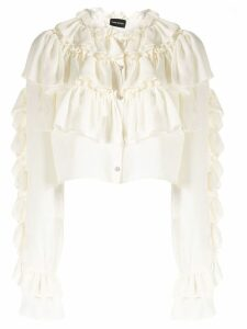 Magda Butrym new romantic cropped blouse - White