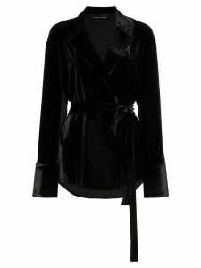 Michael Lo Sordo belted velvet shirt - Black