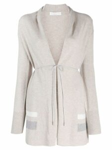 Fabiana Filippi striped print cardigan - Neutrals